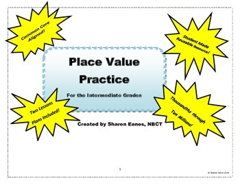Place Value Practice for the Intermediate Grades