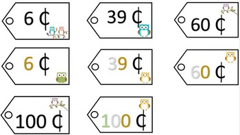 Place Value Price Tags - Owl Theme