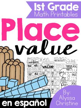 Place Value / Valor posicional Spanish 1st Grade
