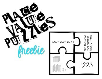 Place Value Puzzle FREEBIE