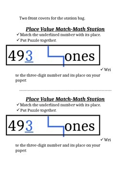 Place Value Puzzle Fun