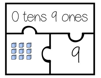 Place Value Puzzle (numbers 1-30) 3 piece set