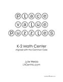 Place Value Puzzles Math Center