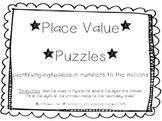 Place Value Puzzles to the Millions