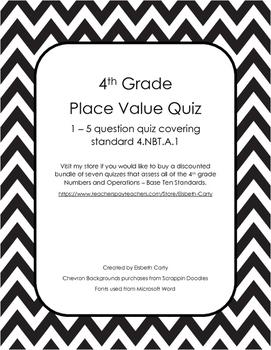 Place Value Quiz