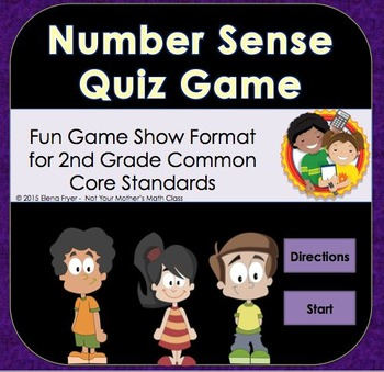 Place Value & Number Sense Quiz Game Review - 2nd Grade