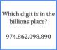 Place Value Quiz Quiz Trade - Millions and Billions