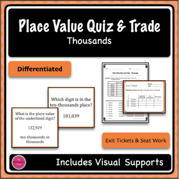 Place Value Game - Quiz and Trade - Thousands Period