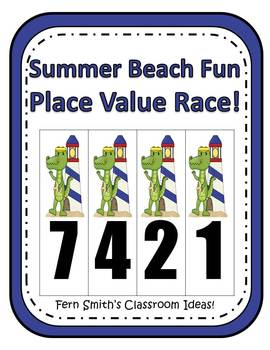 Beach Place Value Math Center Games