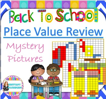 Back to School Decimal Place Value Review Mystery Pictures