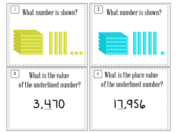 Place Value Review Task Card Set
