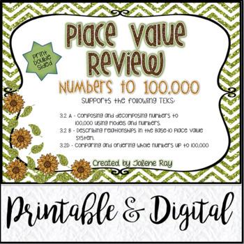 Place Value Unit 1 Review: TEKS 3.2A, 3.2B, 3.2D & CCSS: 4
