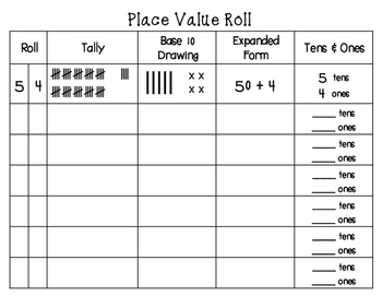 Place Value Roll | Dice Game | Number Sense