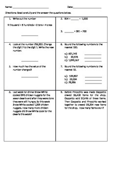 Place Value, Rounding, Addition/Subtraction Review3
