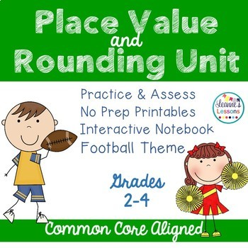 Place Value & Rounding Interactive Notebook Activities & S