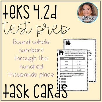 Place Value Rounding TEKS 4.2D Task Cards