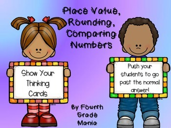 "Place Value, Rounding, and Comparing Numbers ""Show Your Th"