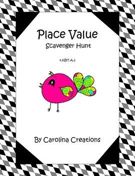Place Value Scavenger Hunt Fourth Grade - 4.NBT.2