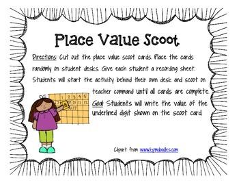 Place Value Scoot Activity