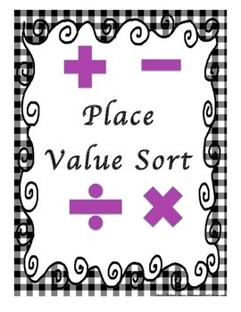 Place Value Sorting Activity