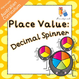 Place Value Spinner Board (Decimal) (ACMNA079)