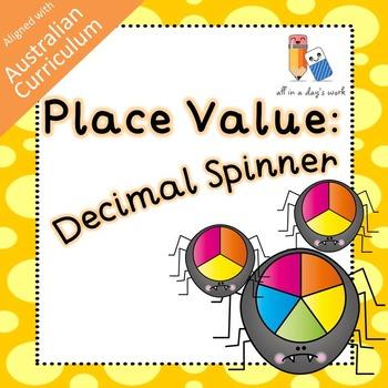 Place Value Spinner Board (Decimal) (ACMNA079)