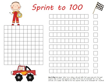 Place Value: Sprint to 100 game center