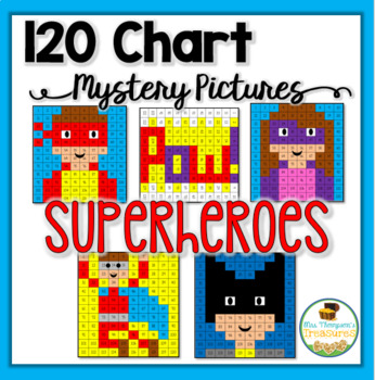 Place Value - Superheroes - 120 Chart Mystery Pictures