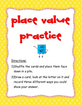 Place Value (TEK 3.1A) Games (x2)