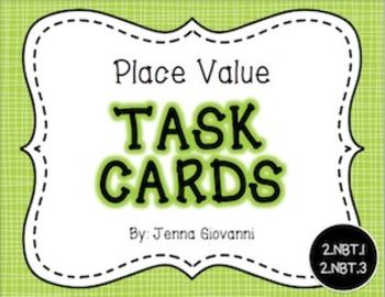 Place Value Task Cards: 2.NBT.1, 2.NBT.3