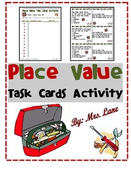 Place Value Task Cards Activity