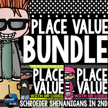 Place Value Task Cards BUNDLE 2 to 5 digit numbers includi