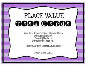 Place Value Task Cards NBT
