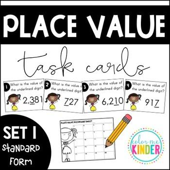 Place Value Task Cards Set 1: Standard Form