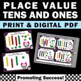 Place Value Games Kindergarten 1st Grade Math Task Cards M