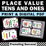 Place Value Task Cards Tens and Ones MAB Blocks 1st Grade