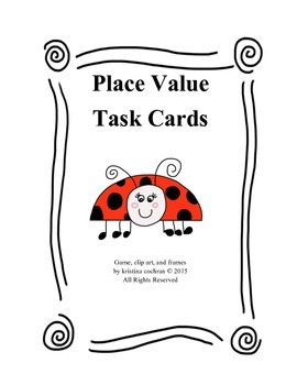 Place Value Task Cards Upper Elementary
