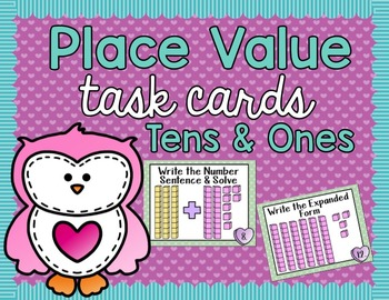 Place Value Task Cards - Valentines Day