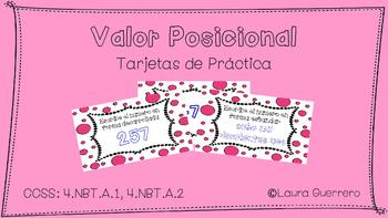 Place Value Task Cards/ Tarjetas de Practica de Valor Posicional