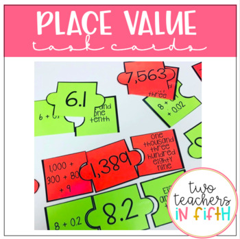 Place Value Task Cards and Puzzles