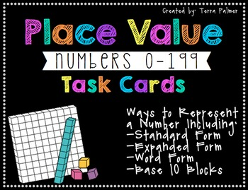Place Value Task Cards to 199