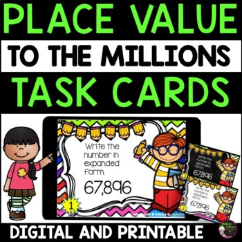Place Value Task Cards 24 cards