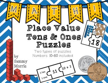 Place Value Puzzles - Tens & Ones
