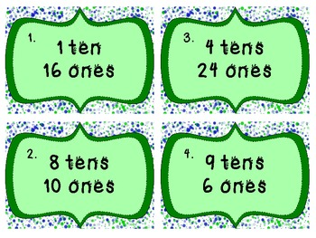 Place Value Tens & Ones Scoot Game