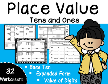 Place Value - Tens and Ones to 99 Base Ten