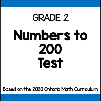 Place Value Test - Grade 2 (Ontario Curriculum)