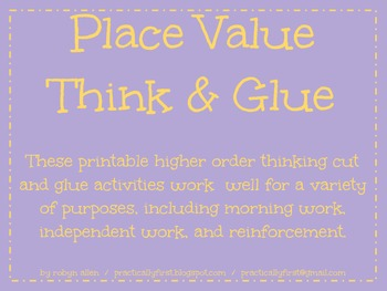 Place Value Think & Glue