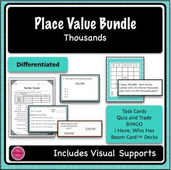 Place Value Thousands 5 Game Bundle