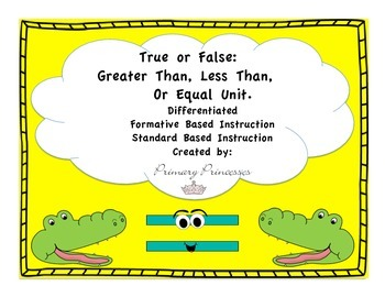 Place Value True or False Unit Differentiated Formative Ba