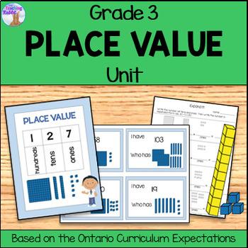 Place Value Unit for Grade 3 (Ontario Curriculum)